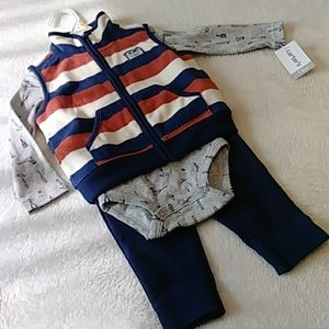 NWT Carter's 12 Month Baby Boy 3 Piece Outfit